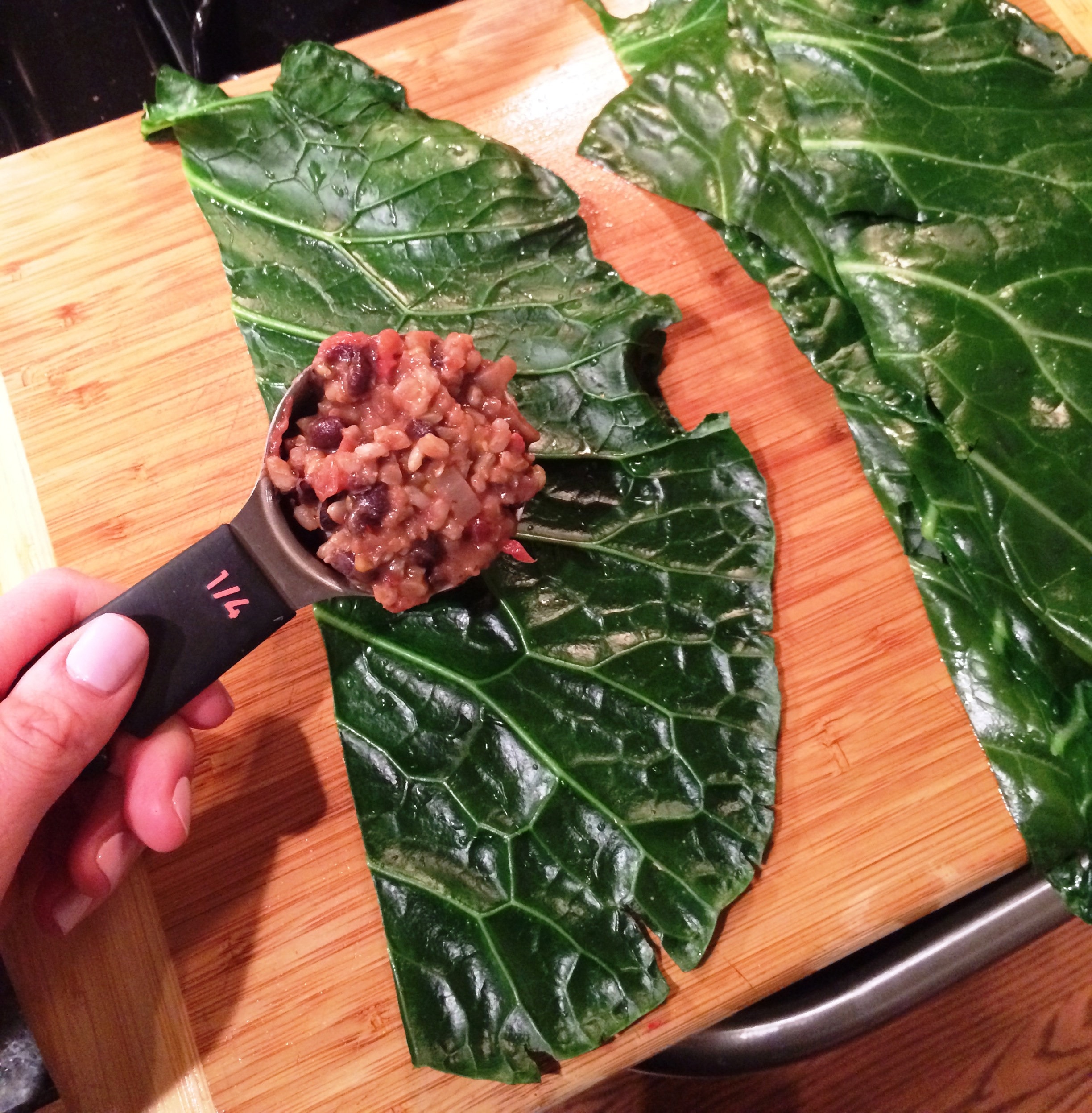 filling collards