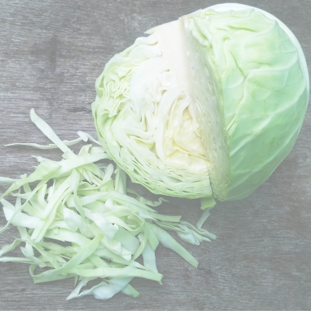 green cabbage that has been chopped