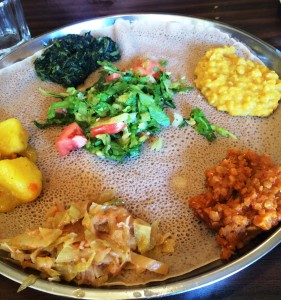 Vegan Ethiopian food at Keren Restaurant in Washington, D.C.