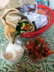 Vegan breakfast burrito at Sticky Fingers in Washington, D.C.