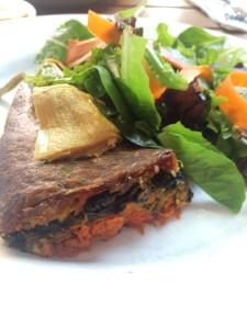 Vegan quiche and salad at Le Pain Quotidien in Washington, D.C.
