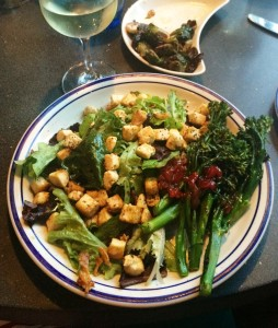 Vegan salad at Roofers Inn in Washington, D.C.