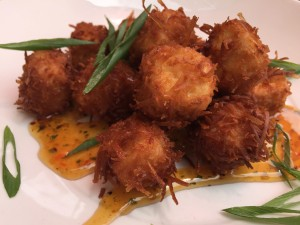 Vegan crispy coconut tofu bites at Busyboys & Poets in Washington, D.C.