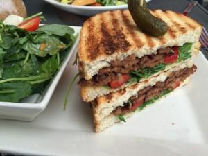 Vegan tempeh sandwich at Busboys & Poets in Washington, D.C.