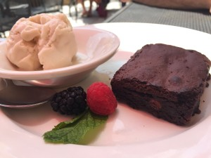 Vegan ice cream and brownie at Busyboys & Poets in Washington, D.C.