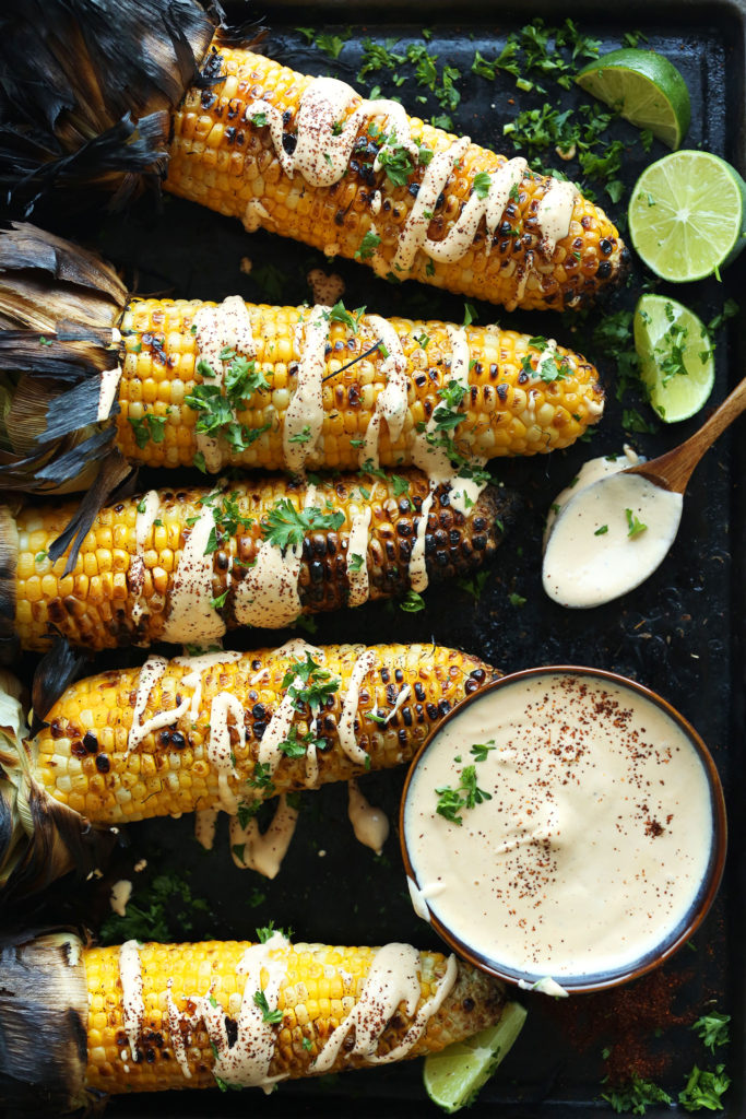 EASY-Mexican-Grilled-Corn-with-Sriracha-Aioli-vegan-glutenfree-aioli-corn-summer-recipe-grill