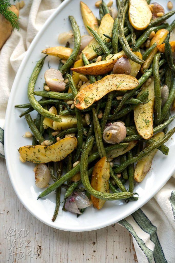 Dill Roasted Green Beans and Potatoes