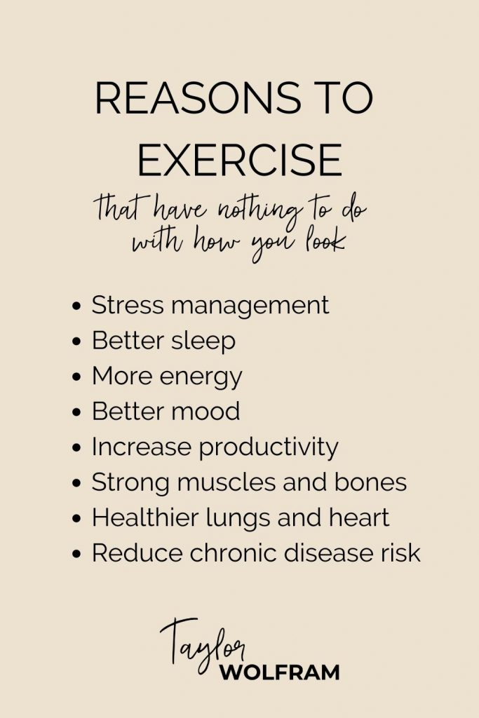 A list of reasons to exercise that have nothing to do with movement