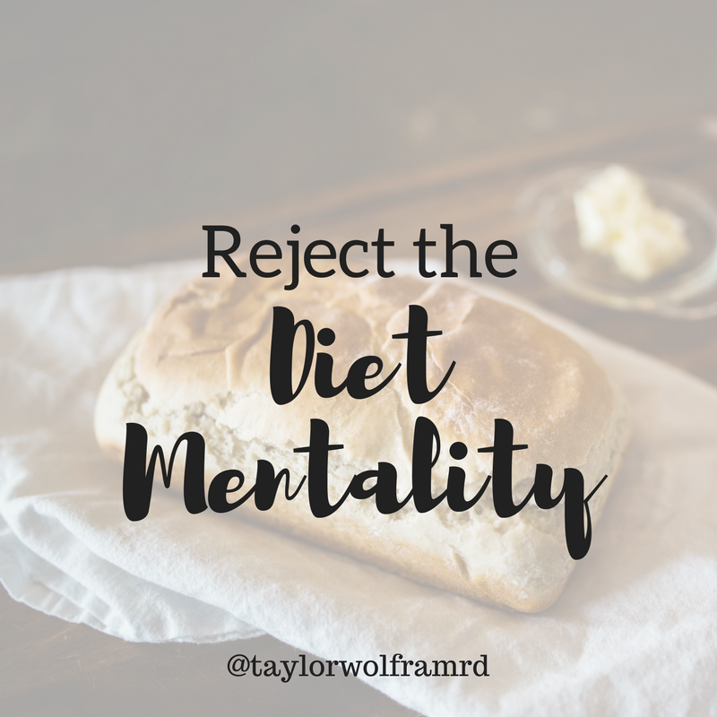 reject the diet mentality