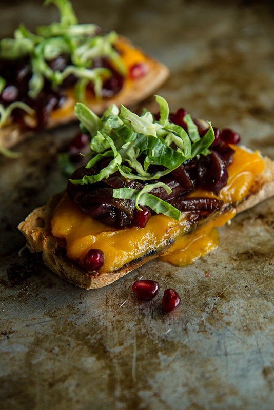 Butternut Squash and Caramelized Onion Crostini from Heather Christo