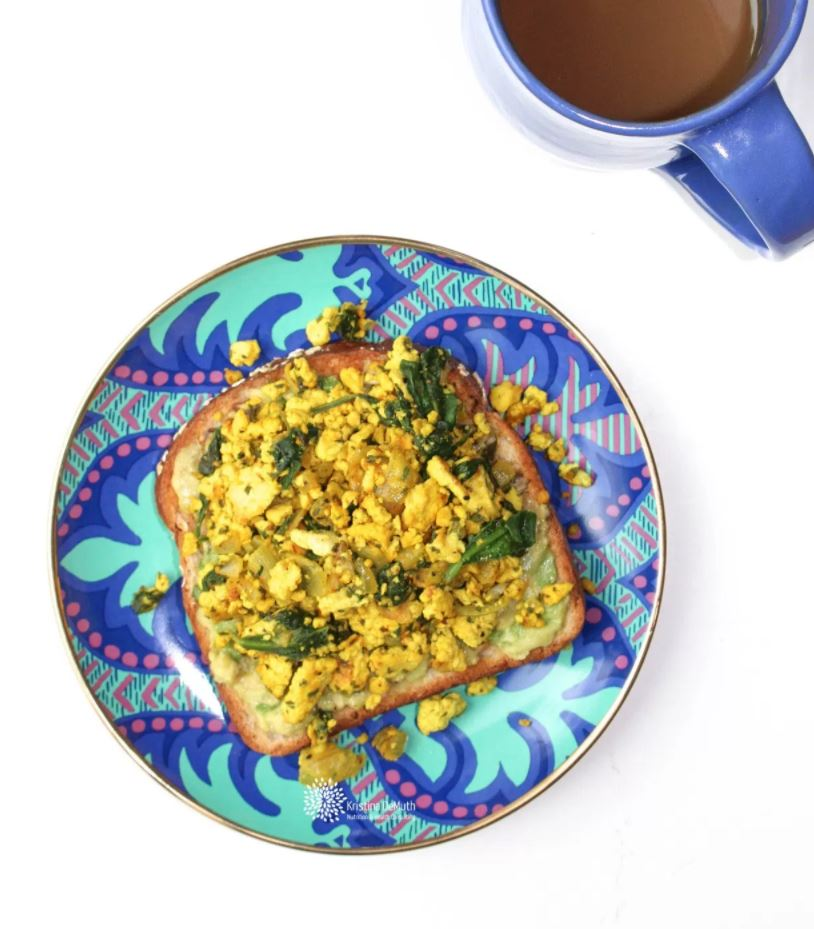 Avocado Toast with Tofu Scramble from Kristina DeMuth