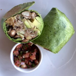 Vegan breakfast burrito from Hotel Wailea