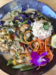 Tofu curry at Lahaina Fish Company