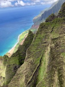 Na Pali coast from helicopter