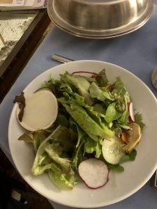 Room service salad from St. Regis, Princeville (Kauai)