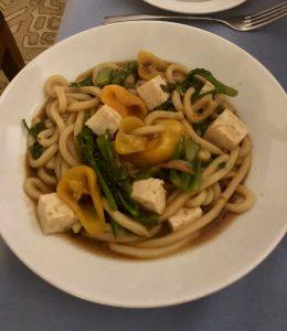 Room service tofu noodles dish from St. Regis, Princeville (Kauai)