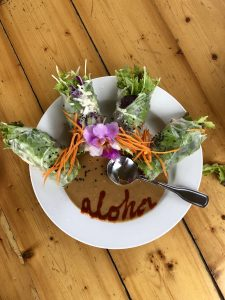 Summer rolls at Eat Healthy on Kauai