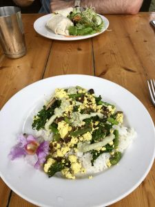 Tofu scramble at Eat Healthy on Kauai