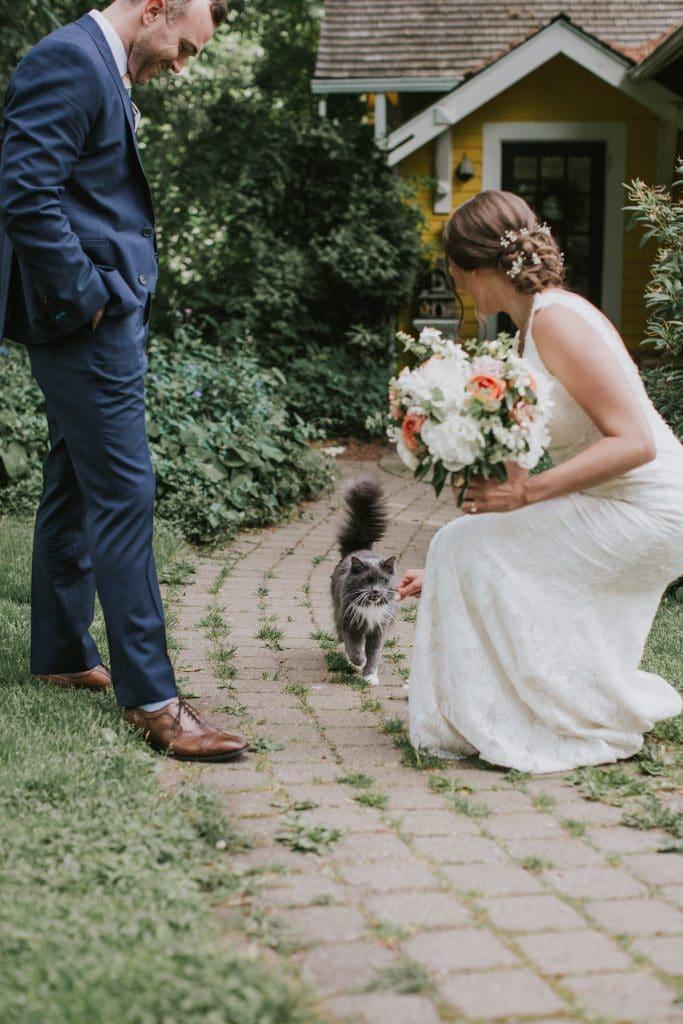 Bride and groom at Mt. Hood Organic Farms wedding in Oregon