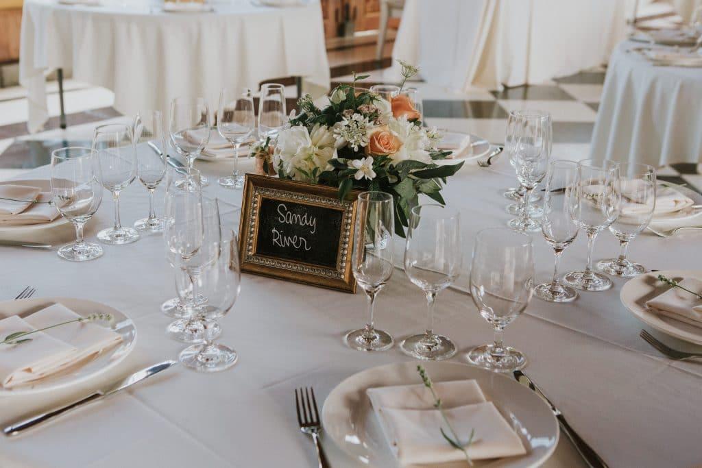 Table settings at Mt. Hood Organic Farms wedding