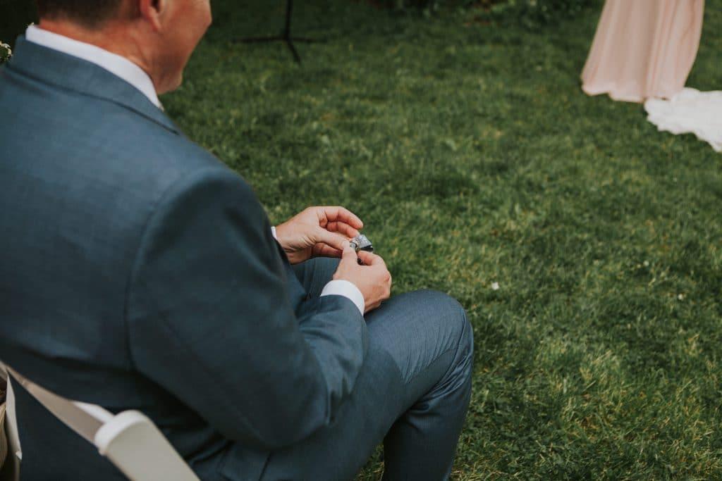 Ring warming at Mt. Hood Organic Farms wedding in Oregon