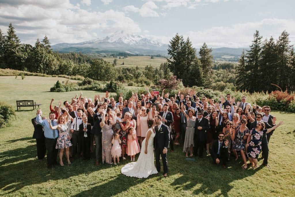 Wedding at Mt. Hood Organic Farms in Oregon