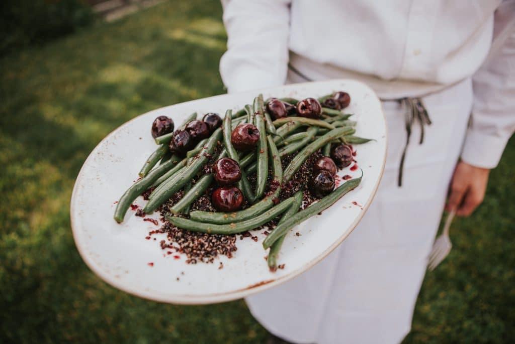 Vegan quinoa and green beans at Mt. Hood Organic Farms Wedding