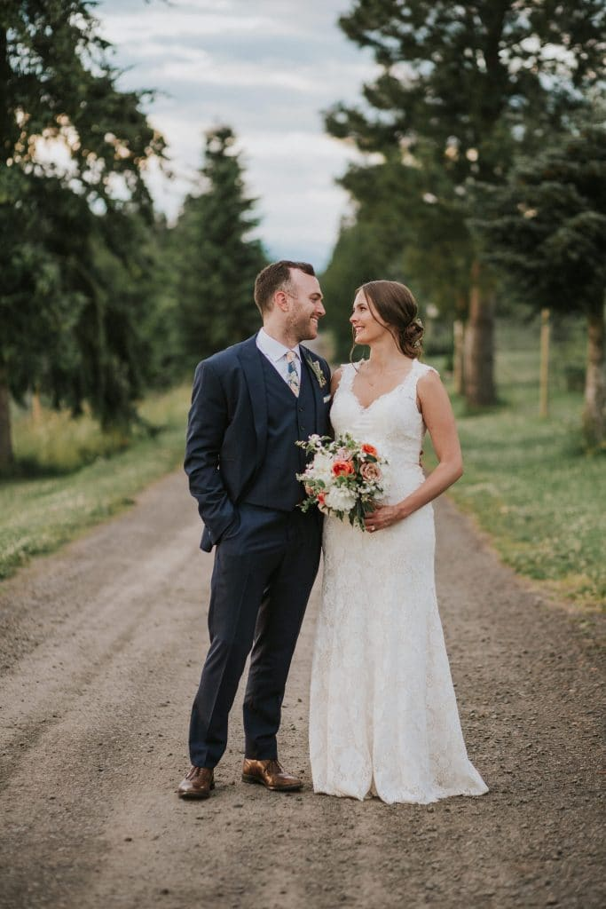 Married couple at Mt. Hood Organic Farms in Oregon