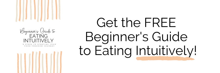 Banner promo for free beginner's guide to eating intuitively