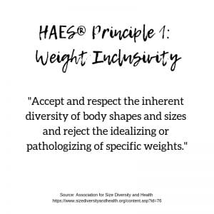 HAES Principle 1: Weight Inclusivity