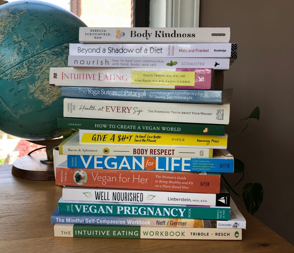Intuitive Eating and Vegan and Sustainability Books