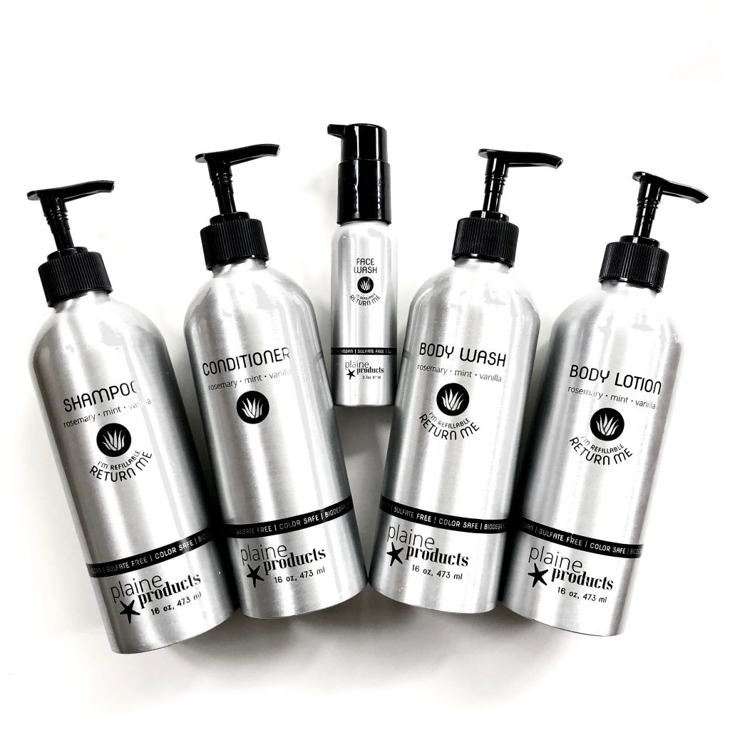 Refillable Shampoo, Conditioner, Body Wash and Body Lotion