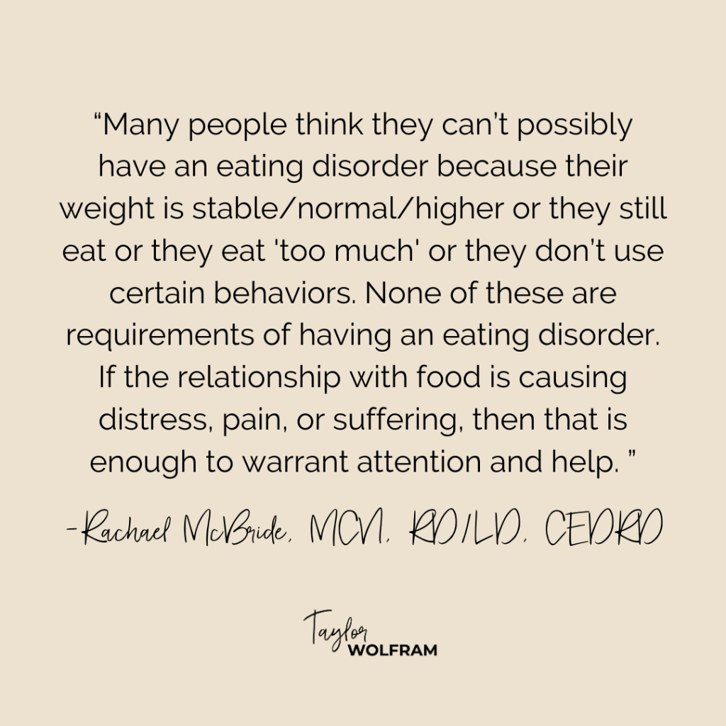 When to get help for an eating disorder